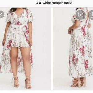 White floral Romper